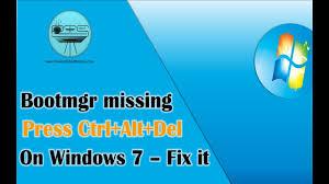 format hard disk bootmgr missing bootmgr is missing press ctrl alt del to restart windows 7 fix it