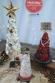 Photo Tree Centerpiece by Diy Vintage Holiday Centerpiece With Floracraft Foam Trees