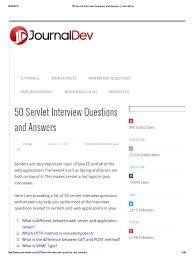 50 servlet interview questions and answers journaldev pdf java
