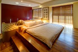 japan style mattress bed frame and cool bedside table lamp feat