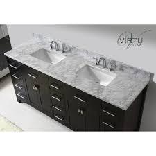 Virtu USA MDWMSQ Caroline Parkway  Double Square Sinks - Bathroom vanity counter top 2