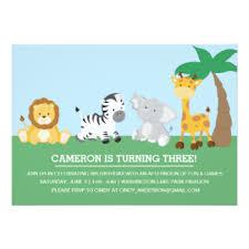 safari birthday invitations u0026 announcements zazzle com au