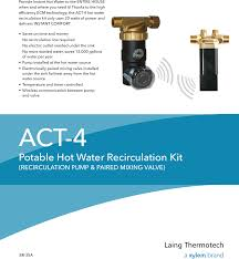 laing under sink recirculating pump 537569 1 laing act 4 recirculator pump kit brochure
