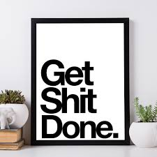 afficher sur le bureau get done poster un poster sympa à afficher dans bureau