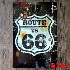 route 66 metal signs vintage home decor bar pub decorative metal