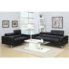 Commando Black Sofa Bonded Leather Sofas Couches U0026 Loveseats Shop The Best Deals
