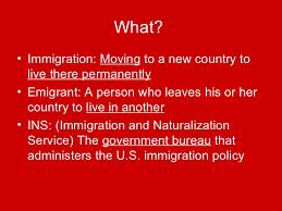bureau d immigration immigration powerpoint