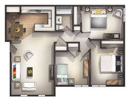 adorable 3 bedroom apartment 69 for house design plan with 3