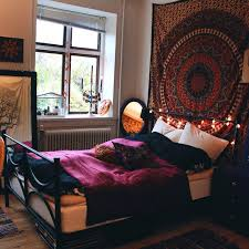 Bohemian Bed Canopy Boho Room Decor Inspired Bedding Apartment Decor Cool Room Ideas
