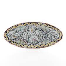 painted serving platters portuguese decorative painted serving platter ebth