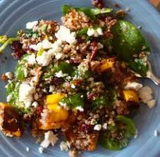 quinoa sweet potatoes toasted pecans and dried cranberries