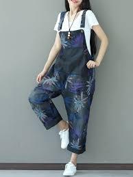 denim jumpsuits for sale vintage printed pocket denim jumpsuits for