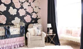 pink peonies nursery ale s sweet navy floral nursery caden lane