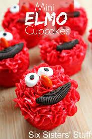 elmo cupcakes mini elmo cupcakes six stuff