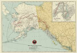United States Map With Lakes And Rivers by Old Railroad Map White Pass Yukon Route Railroad 1917
