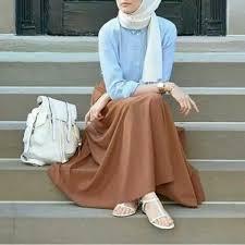 pinterest eighthhorcruxx white hijab blue shirt and brown