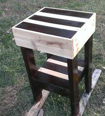 tables made out of pallets pallet furniture how to make a pallet end table youtube