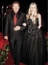 avril lavigne black wedding dress rock princess avril lavigne wore a black lhuillier wedding