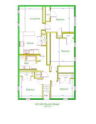 church floor plan prestige properties llc 610 church apt 3 4br 1ba