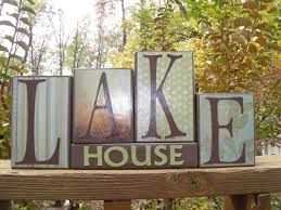 wooden home decor items lake house decorating items lake house wooden block home decor