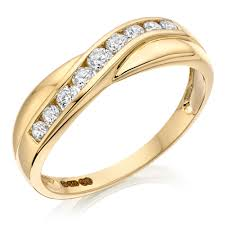 gold eternity rings 9ct gold cubic zirconia half eternity ring 0000895