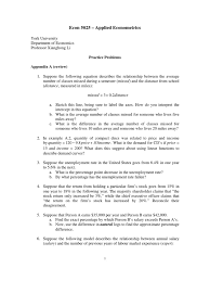 econ5025 practice problems coefficient of determination