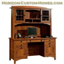 deluxe mission craftsmen shaker computer desk with hutch