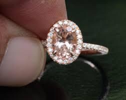 gold and morganite engagement rings oval morganite ring etsy