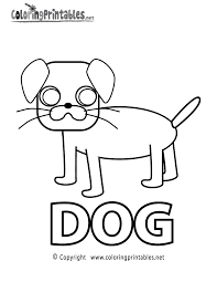 spell dog coloring page a free educational coloring printable