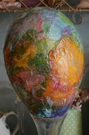 paper mache easter eggs paper mache easter egg the imagination tree