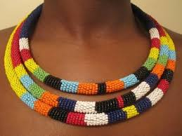 african beads necklace images Diy tribal necklace jpg