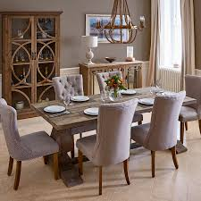 Wooden Dining Room Furniture Chateau Reclaimed Wood Dining Table With 4 Ella And 2 Ruby Chairs