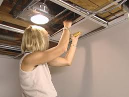 Recessed Lighting For Drop Ceiling by How To Install An Acoustic Drop Ceiling How Tos Diy