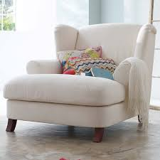 White Armchair With Ottoman Dream Chair Via Somewhere North To Build A Home Pinterest