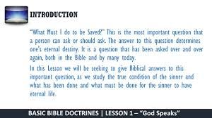 basic bible doctrines bible study guide ppt download