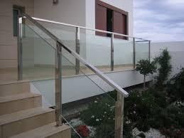 barandilla de cristal barandillas met磧licas de acero inoxidable aluminio y cristal en