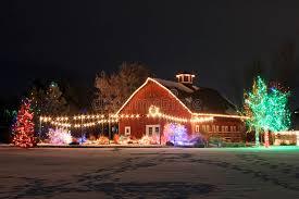 trail of lights denver christmas on the farm stock image image of season botanic 31698317