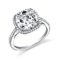 halo cushion cut engagement ring glamorous cushion cut halo engagement rings