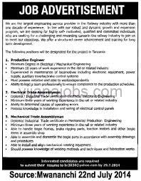 Electronics Engineer Job Description Experience Resume For Production Engineer Resume For Your Job