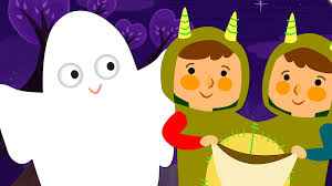 hollwen knock knock trick or treat halloween song super simple songs