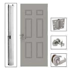 l i f industries 36 in x 80 in 6 panel steel gray security 6 panel steel gray security commercial door with