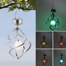 solar powered wind chime light color changing solar powered led wind chimes wind spinner