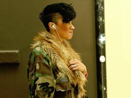 military short haircuts for women military style haircut the earphones just add graphic beauty