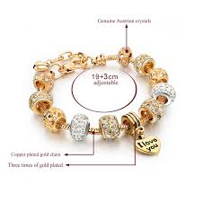 gold plated charm bracelet images Beautiful i love you charm bracelet jpg