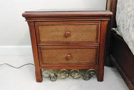 rattan night stands for bedroom wicker nightstand for young