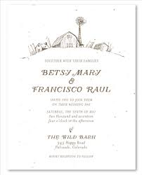 barn wedding invitations barn wedding invitations on seeded paper by foreverfiances weddings