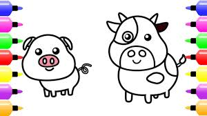 learn name and sound with farm animals coloring pages for baby