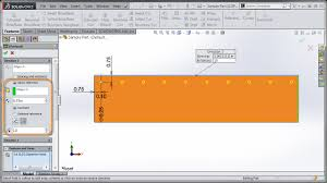 solidworks linear pattern solidworks 2015 equal spacing option for linear patterns with