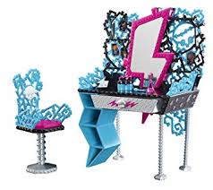 monster high table and chair set monster high playset frankie stein vanity and chair set fashion