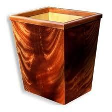 Bedroom Wastebasket Crotch Mahogany Wastebasket 13qt This Wood Wastepaper Basket Is
